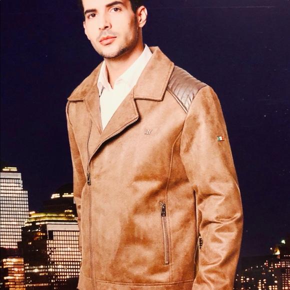 de50390f5 BV Italian Tan suede jacket NWT